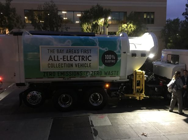 bay area first all electric garbage truck
