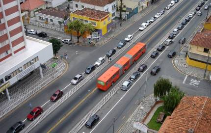 dedicated bus lane - bus rapid transit brt