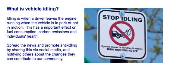 no car idling