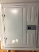 Locate the electrical panel - floor one units only