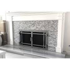 Glass Fireplace Doors Stop Updraft Heat Loss.