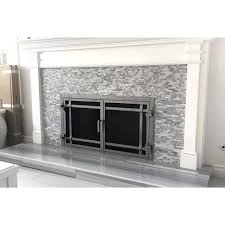 Glass Fireplace Doors Stop Updraft Heat Loss.